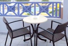 Vector y sillas al aire libre Imagenes de archivo