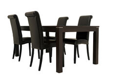Vector y sillas de madera oscuros Imagen de archivo