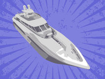 Vector yacht Royalty Free Stock Images