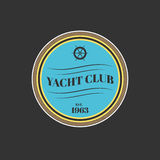 Vector yacht club logo Royalty Free Stock Image