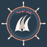 Vector yacht club logo Royalty Free Stock Photo