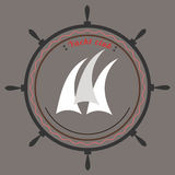 Vector yacht club logo Stock Photography