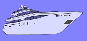 Vector yacht front view Royalty Free Stock Image