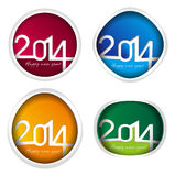 Vector 2014 year set. Isolated on white vector illustration