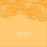 Vector yellow abstract invitation card with abstract wave. Royalty Free Stock Image