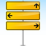 Vector yellow arrows signs Stock Photography