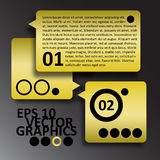 Vector Yellow and Black Infographics Background Co Stock Image