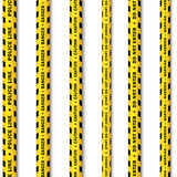 Vector yellow black police tape set Stock Photo