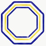 Vector yellow and blue triangles Royalty Free Stock Images