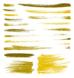 Vector yellow brush splatters Royalty Free Stock Image