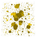 Vector yellow brush splatters Royalty Free Stock Images