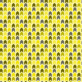Vector yellow chevron seamless pattern Stock Image
