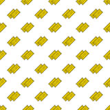 Vector yellow cinema tickets seamless pattern Stock Images
