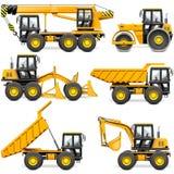 Vector Yellow Construction Machinery Set 2 royalty free illustration