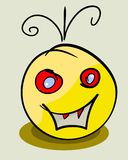 Vector yellow face monster. Eps 8 illustration Stock Photography
