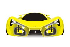 Vector of yellow ferrari f80 sport car Royalty Free Stock Photo