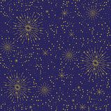 Vector colorful festive seamless pattern for holidays. Vector yellow festive seamless pattern for holidays. Bright background with fireworks Stock Photo