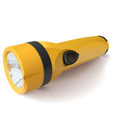 Vector yellow flashlight on a white background Royalty Free Stock Images