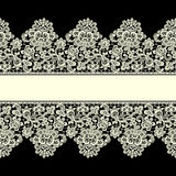 Vector Yellow Lace Border. Seamless Pattern. Stock Images