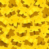Vector yellow meeples seamless pattern Royalty Free Stock Photos