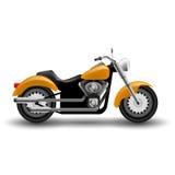 Vector yellow motorcycle. Royalty Free Stock Photos