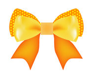 Vector of Yellow and Orange Bow Stock Image