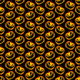 Vector Yellow Orange Festive Scary and Spooky Halloween Pumpkin Stock Images