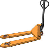 Vector yellow pallet truck Stock Photography