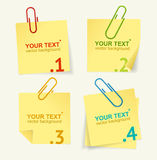 Vector yellow paper option banner Stock Image
