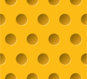 Vector yellow plastic dotted seamless pattern. Abs Royalty Free Stock Photos
