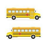 Vector yellow school bus. Vector illustration Stock Images