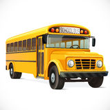 Vector yellow school bus Royalty Free Stock Images