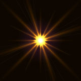 Vector yellow shining star Royalty Free Stock Image