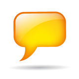 Vector yellow speech balloon Royalty Free Stock Photos