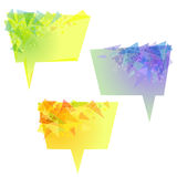 Vector yellow speech bubbles with triangles Stock Image