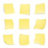 Vector yellow stick note isolated on white Stock Photo