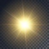 Vector yellow sun Royalty Free Stock Image