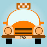 Vector Yellow Taxi Car Royalty Free Stock Photography