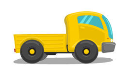 Vector yellow truck Stock Photos
