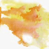 Vector yellow watercolor splatter Royalty Free Stock Images