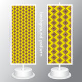 Vector Yellow and White set Geometric Patterns. Retro Mod Background Royalty Free Stock Photography
