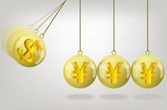 Vector yen money crisis concept art Stock Photography