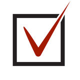 Vector yes checked voting icon. Ok symbol royalty free illustration