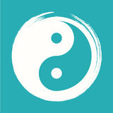 Vector Yin Yang in a Zen Circle Illustration Stock Images