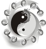 Vector ying yang Royalty Free Stock Photo