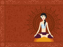 Vector yoga background Royalty Free Stock Photo