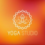 Vector yoga icon Stock Images