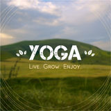 Vector yoga illustration.  EPS,JPG. Stock Photo