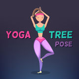 Vector yoga illustration Royalty Free Stock Photo