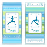 Vector yoga illustration. Yoga posters with floral ornament and yogi silhouette. Identity design for yoga studio, yoga center, cla. Ss, also for magazine Royalty Free Stock Photography